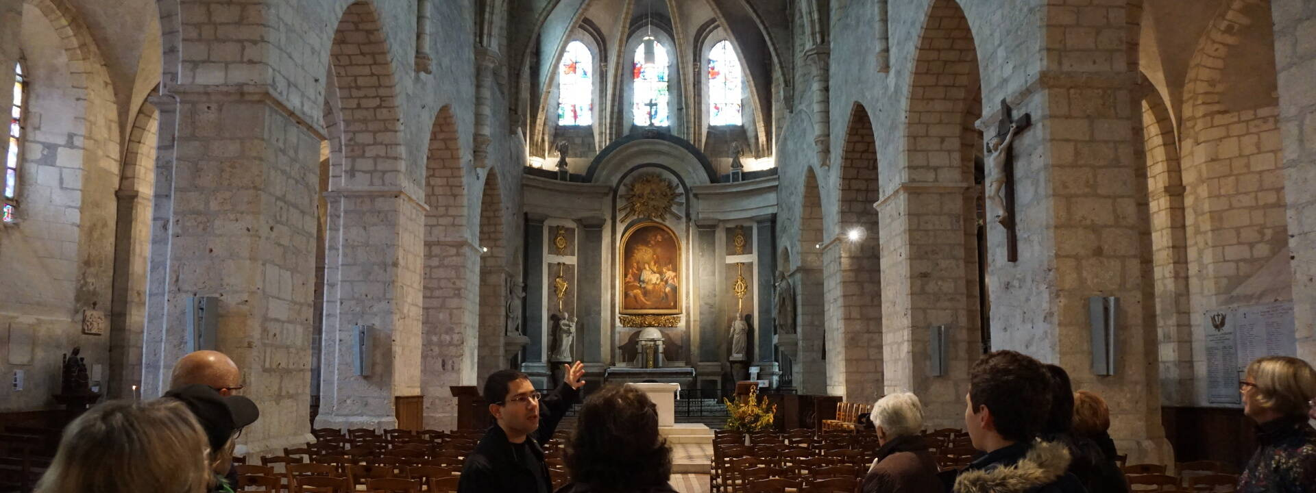 Nave and chancel of Saint Valérien church