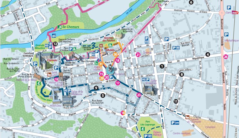 Touristic map