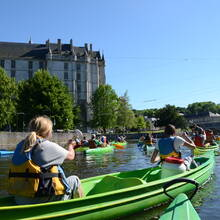 Balade en canoë au pied du château